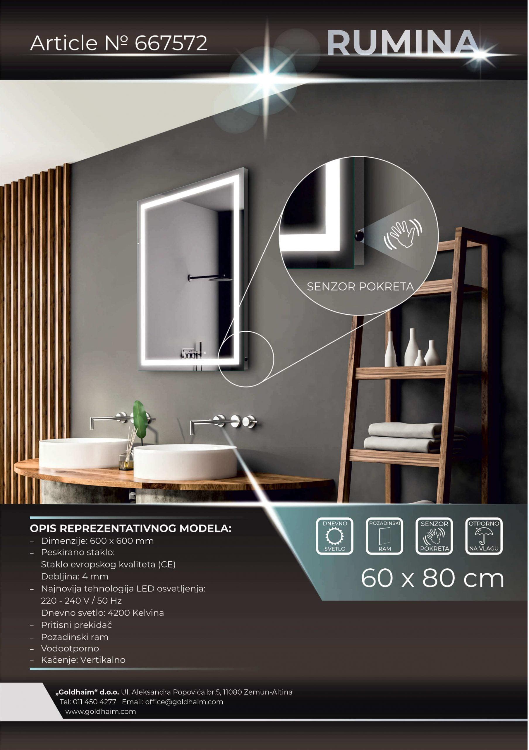 LED OGLEDALO 667572 RUMINA