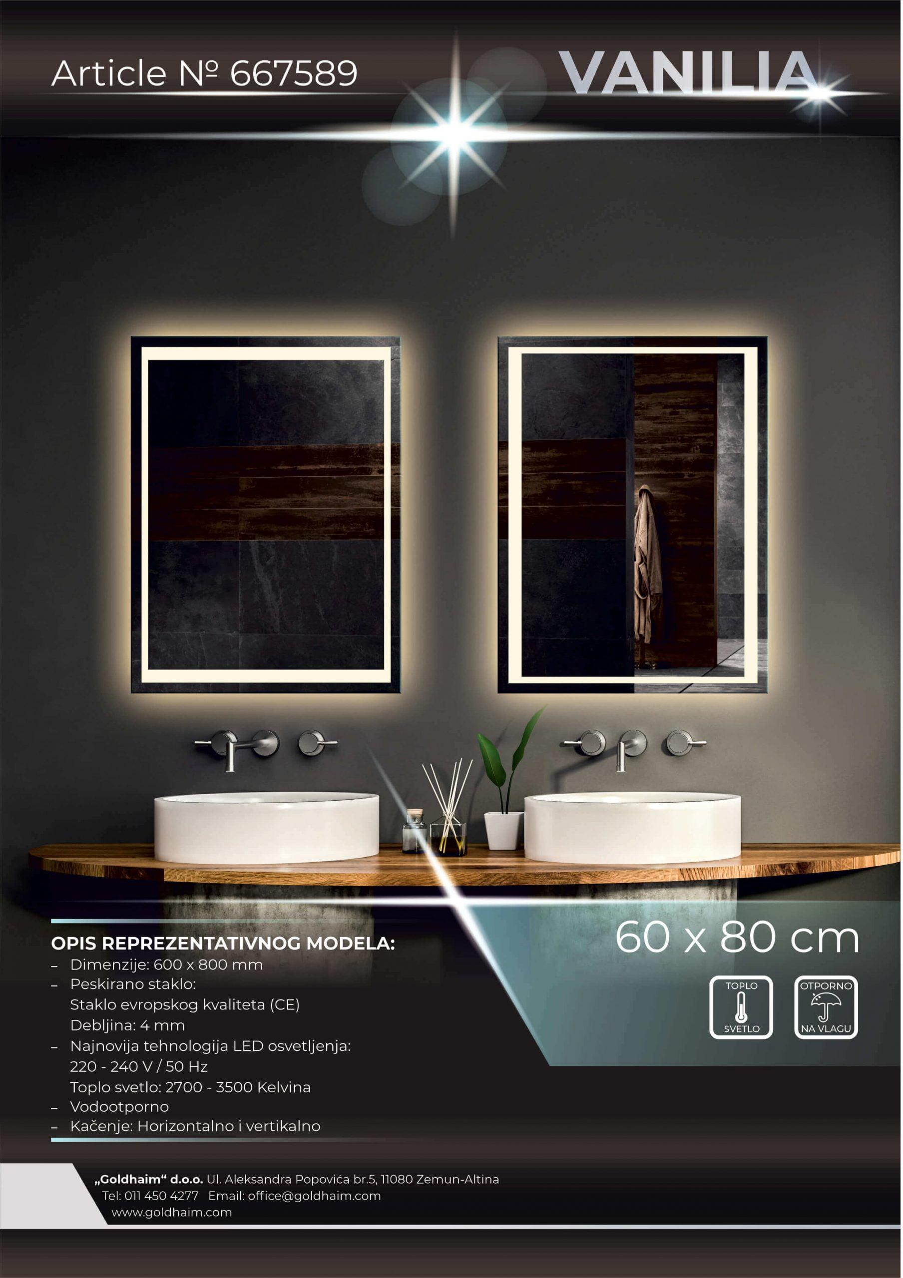 LED OGLEDALO 667589 VANILIA
