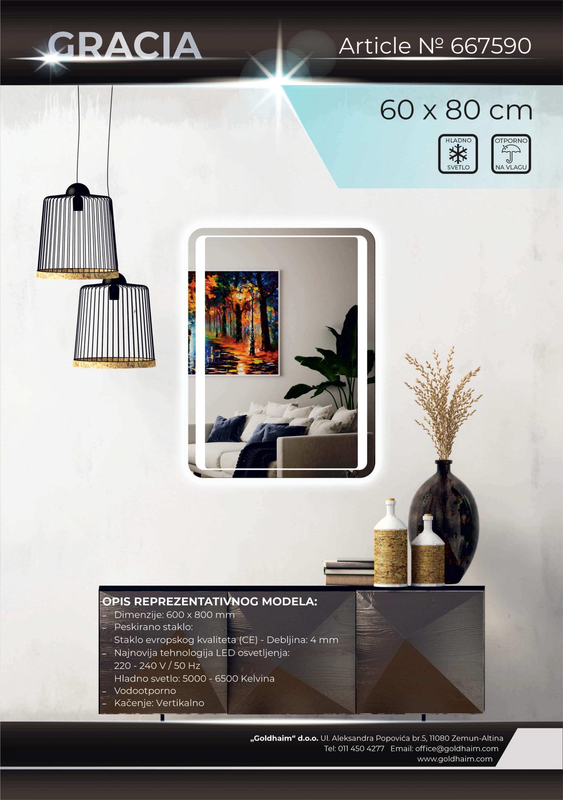 LED OGLEDALO 667590 GRACIA
