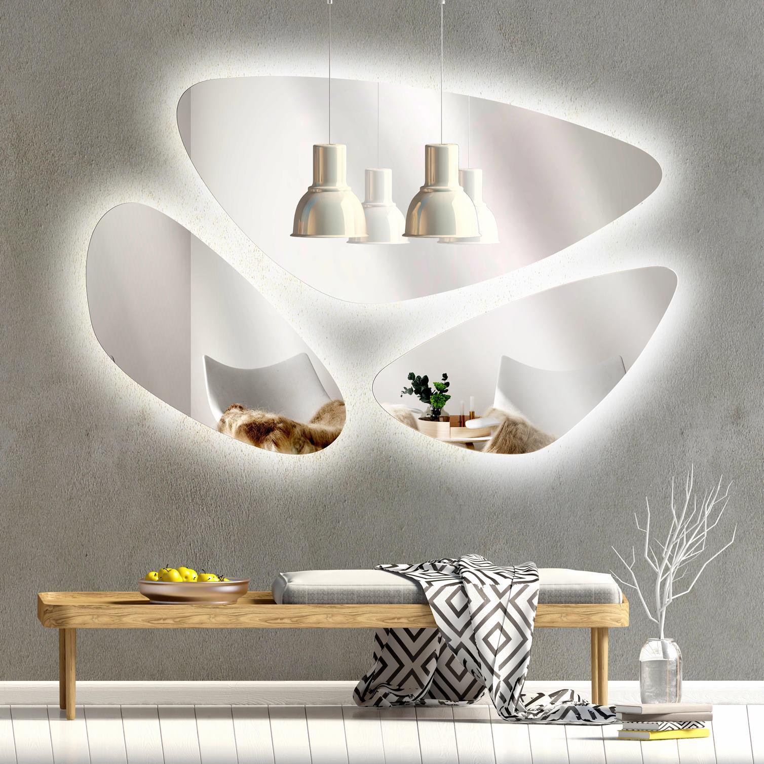 Italy Set LED Ogledala SILVER