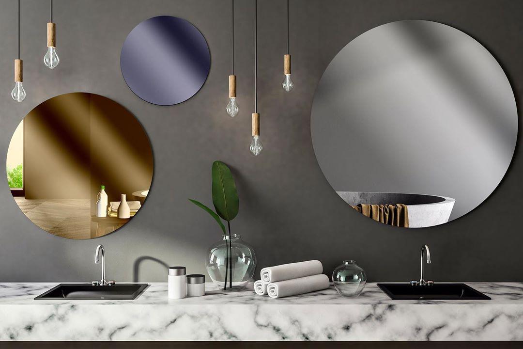 Velika kružna ogledala u boji