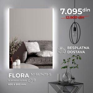 LED OGLEDALO 667479-S FLORA SLIM