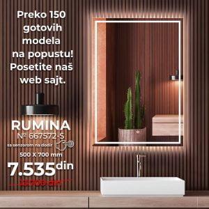 LED OGLEDALO 667572-S RUMINA SLIM