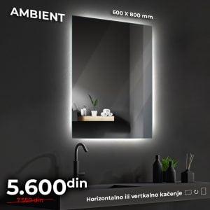LED OGLEDALO AMBIENT 60 x 80 cm