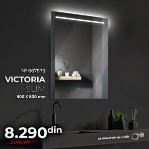 LED OGLEDALO 667573 VIKTORIA SLIM