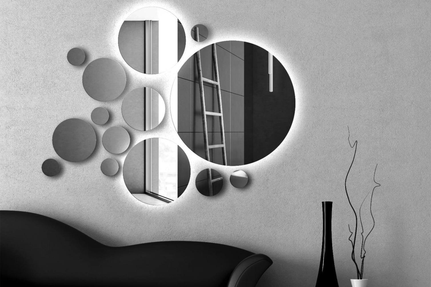 Set ogledala, velika i mala kružna ogledala
