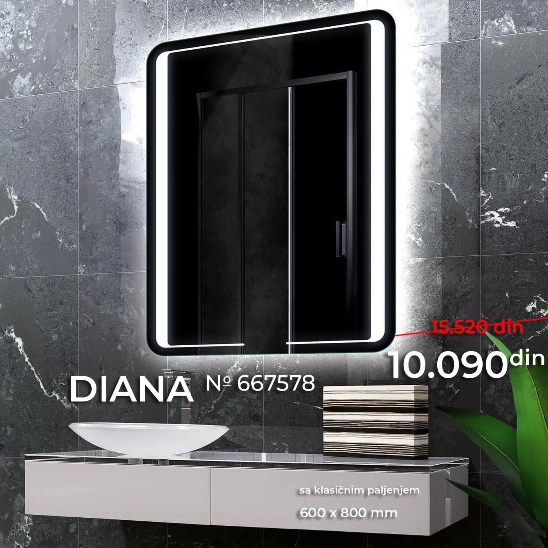 LED OGLEDALO 667578 DIANA